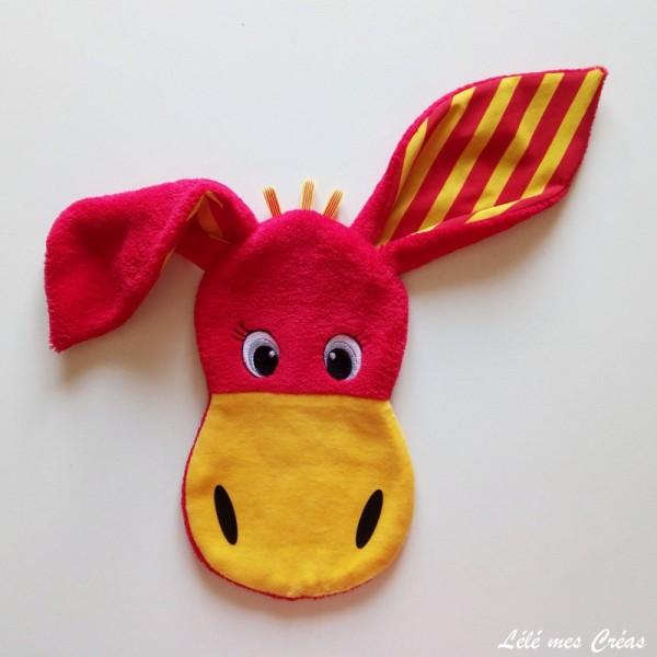 DOUDOU PLAT âne CATALAN el burro català sang et or Lélé mes Créas