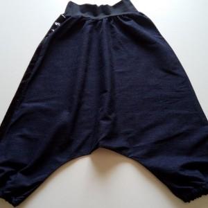 SAROUEL chambray bleu foncé broderie ruban sequin Lélé mes Créas