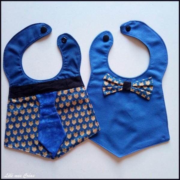 bavoir-cravate-noeud-de-papillon-recto-verso-renard-bleu-lele-mes-creas