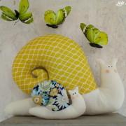 lelemescreas.com cargol maman et bébé escargot tilda escargots Lélé mes Créas