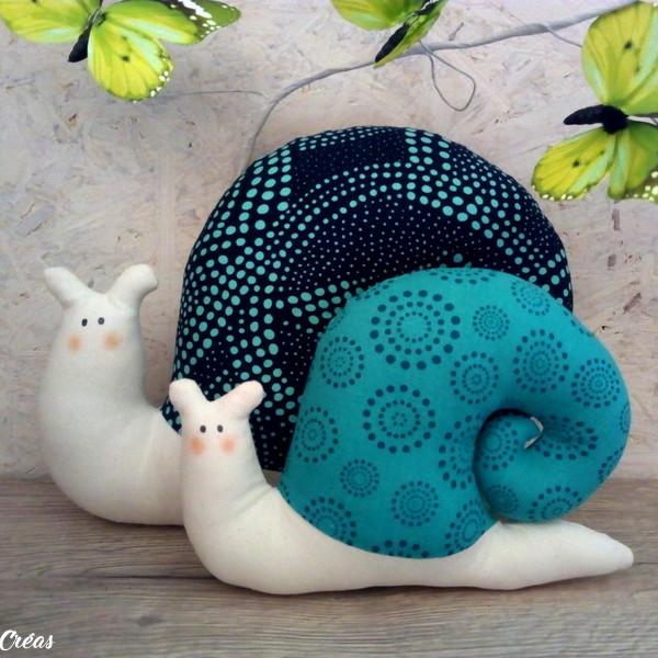 lelemescreas.com cargols maman et bébé escargot inspiration tilda cargol Lélé mes Créas