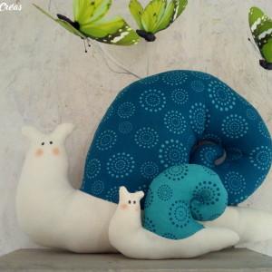 lelemescreas.com cargols maman et bébé escargot tilda Lélé mes Créas