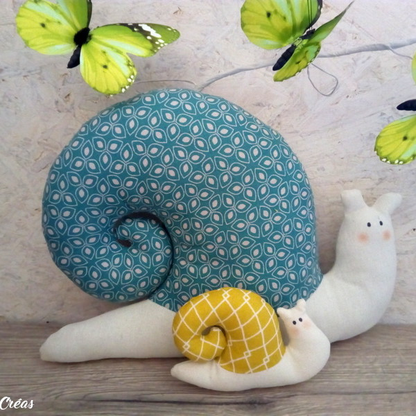 lelemescreas.com cargols maman et bébé escargot tilda escargots Lélé mes Créas