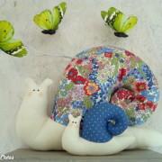 lelemescreas.com escargot cargol maman et bébé escargot tilda Lélé mes Créas